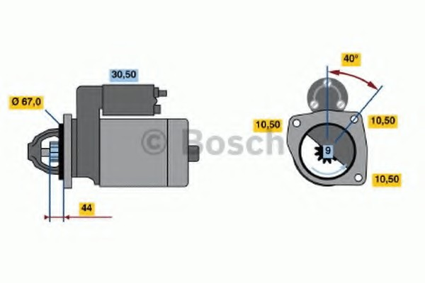 0001106016 Bosch Стартер