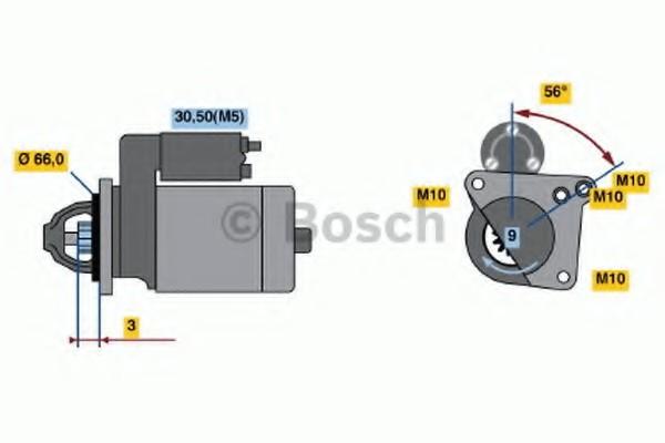 0001106022 Bosch Стартер