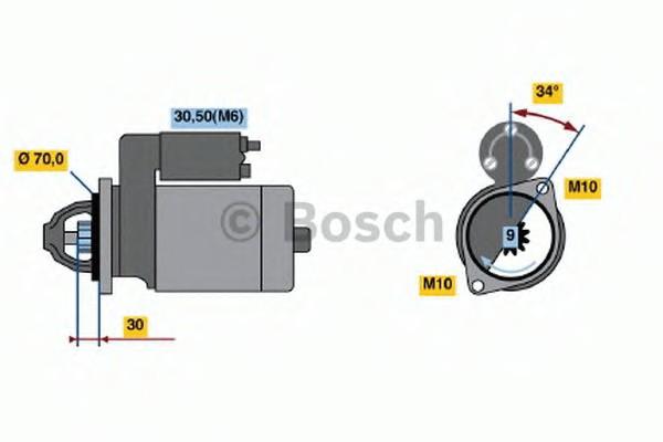 0001107406 Bosch Стартер
