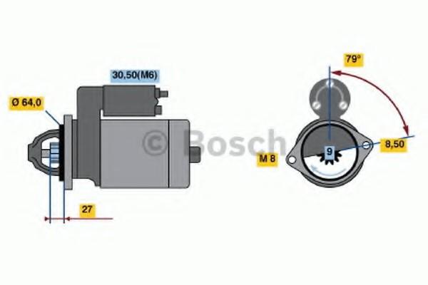 0001107437 Bosch Стартер