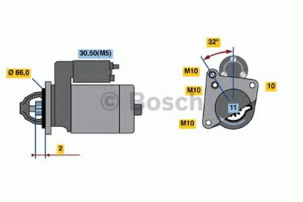 0001108186 Bosch Стартер