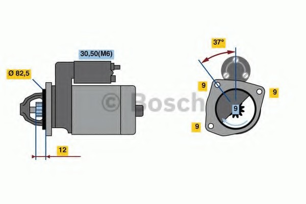 0001108239 Bosch Стартер