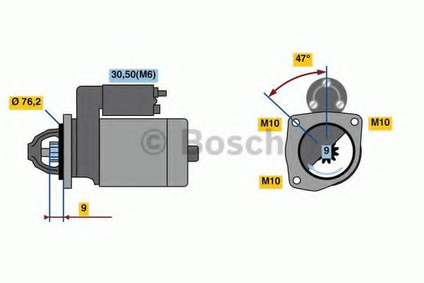0001109389 Bosch Стартер
