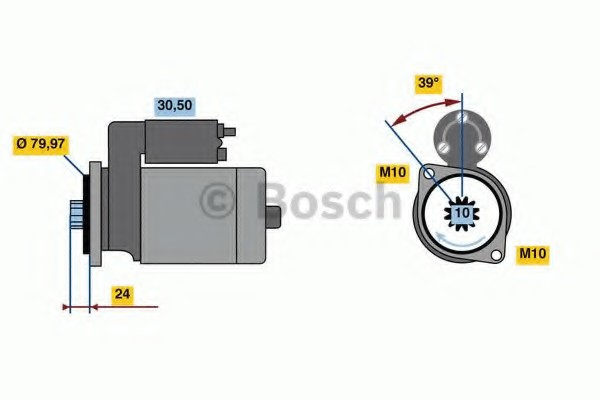 0001109399 Bosch Стартер