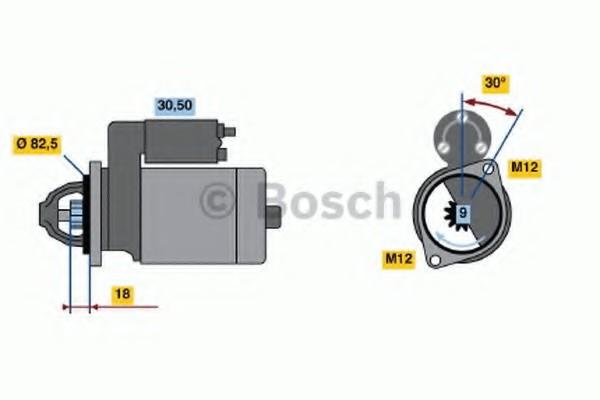 0001110138 Bosch Стартер