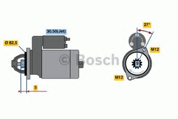 0001125053 Bosch Стартер