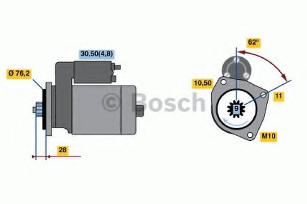 0001125609 Bosch Стартер