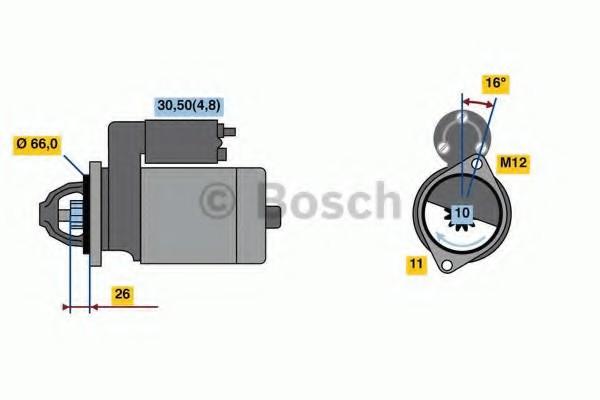 0001138013 Bosch Стартер