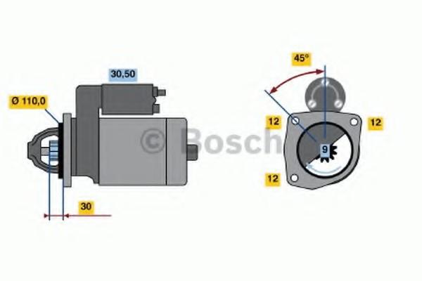 0001230007 Bosch Стартер