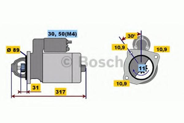 0001231007 Bosch Стартер