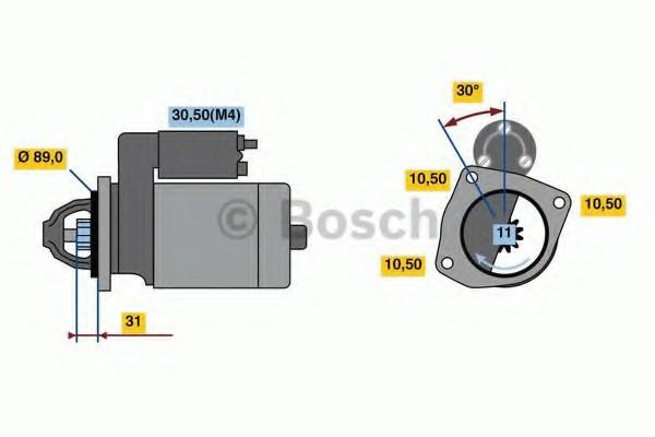 0001231119 Bosch Стартер