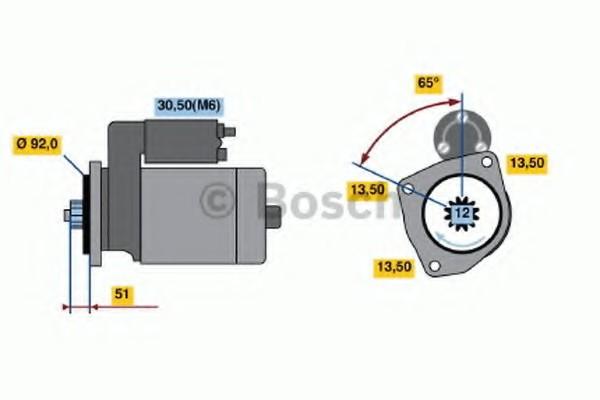 0001241001 Bosch Стартер