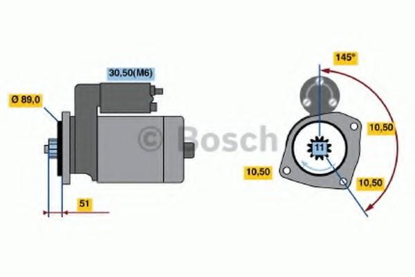 0001241008 Bosch Стартер