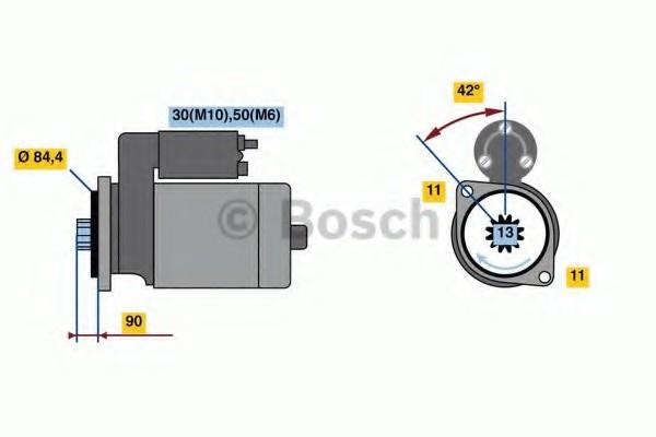 0001260002 Bosch Стартер