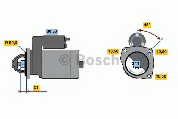 0001260026 Bosch Стартер