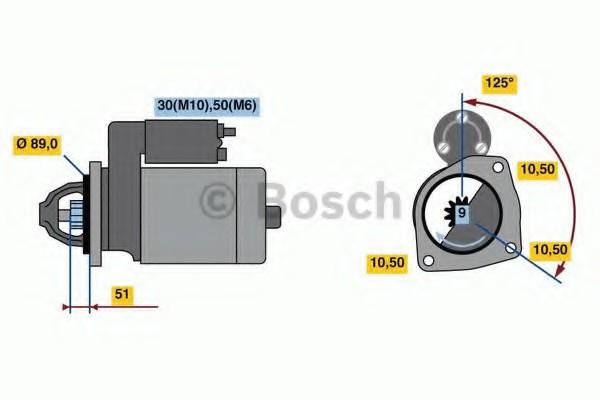 0001263016 Bosch Стартер