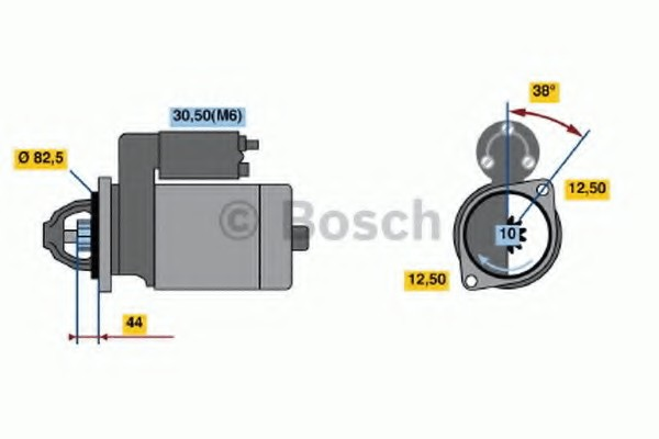 0001316013 Bosch Стартер