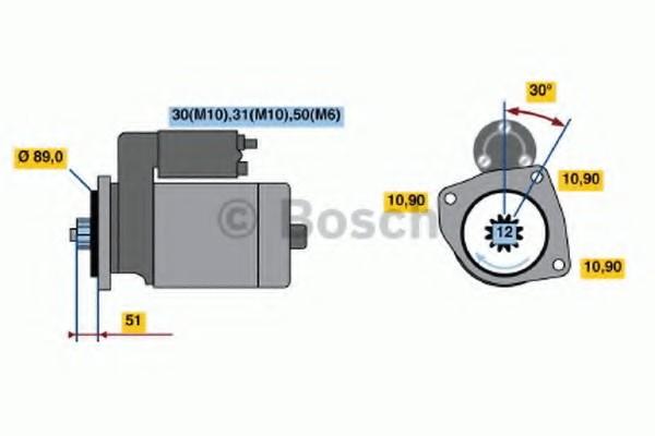 0001330014 Bosch Стартер