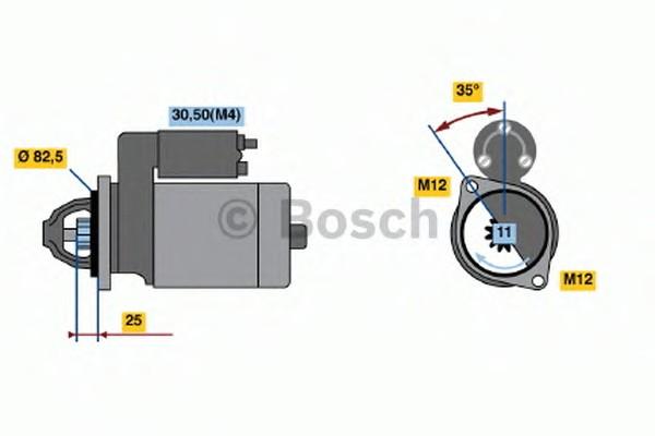 0001368086 Bosch Стартер