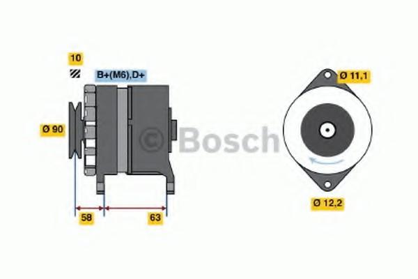 0120489413 Bosch Генератор