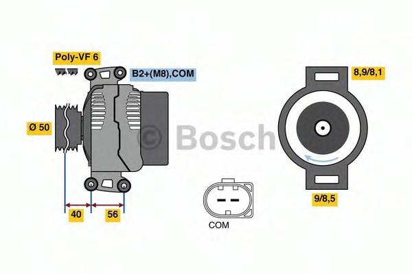 0121715014 Bosch Генератор