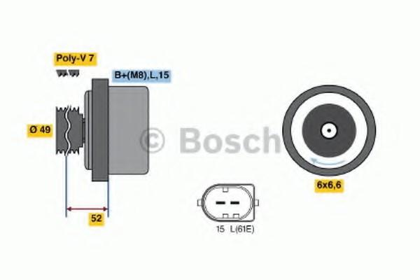 01220AA1J0 Bosch Генератор