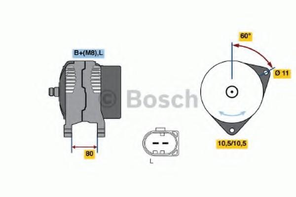 0124325122 Bosch Генератор