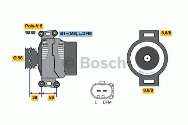 0124525088 Bosch Генератор