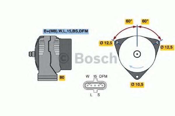 0124555041 Bosch Генератор