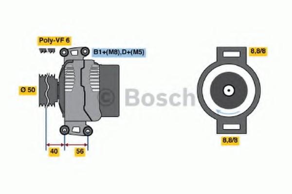 0124615019 Bosch Генератор