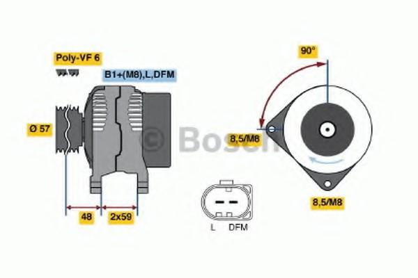 0124615038 Bosch Генератор