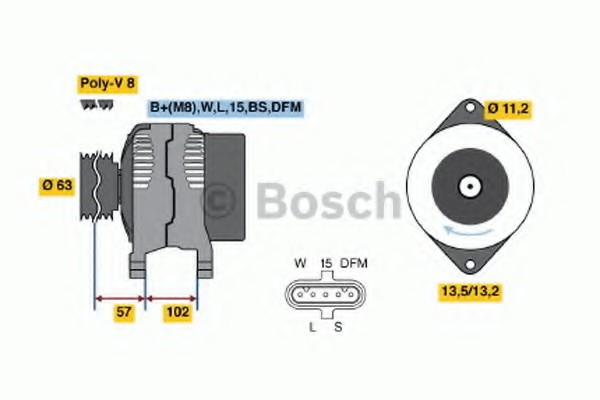 0124655024 Bosch Генератор