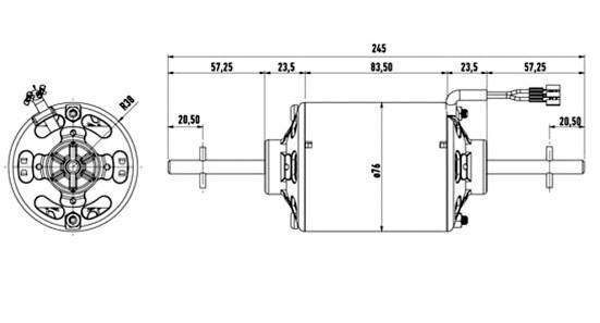 0130111130 Bosch Двигатель вентилятора