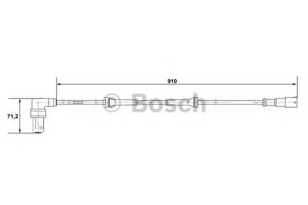 0265001057 Bosch Датчик ABS