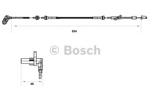 0265007552 Bosch Датчик ABS