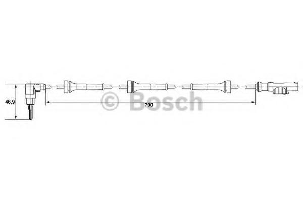 0265007636 Bosch Датчик ABS