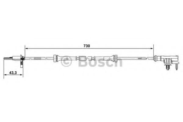 0265007637 Bosch Датчик ABS