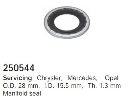 250544 Cargo Кольцо уплотнительное резино-металлическое