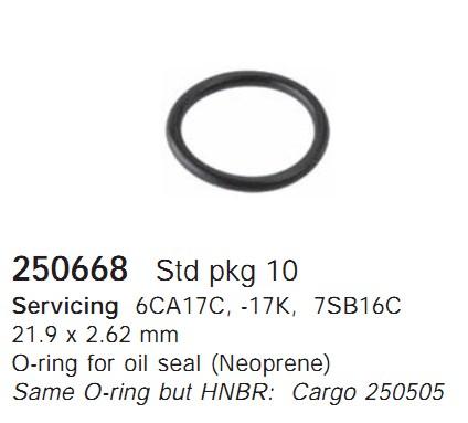 250668 Cargo Кольцо уплотнительное кондиционера