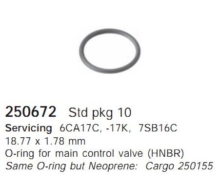 250672 Cargo Кольцо уплотнительное кондиционера