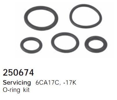 250674 Cargo Кольцо уплотнительное кондиционера комплект