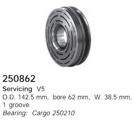 250862 Cargo Шкив компрессора