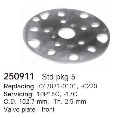 250911 Cargo Клапан-пластина кондиционера
