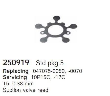 250919 Cargo Клапан-пластина кондиционера