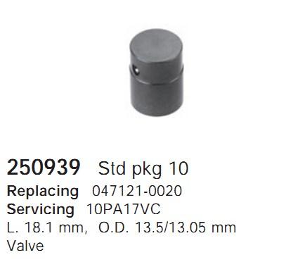 250939 Cargo Клапан предохранительный компрессора
