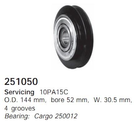 251050 Cargo Шкив компрессора