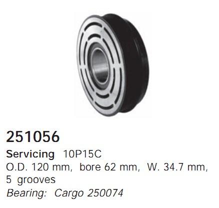251056 Cargo Шкив компрессора