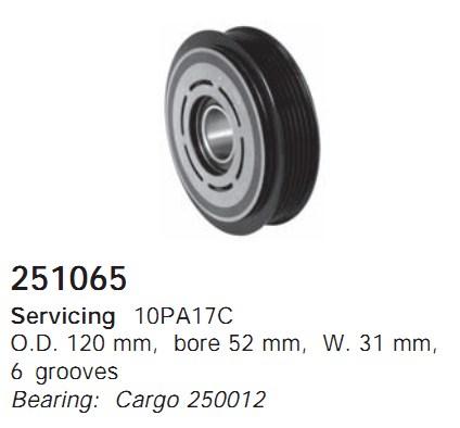 251065 Cargo Шкив компрессора