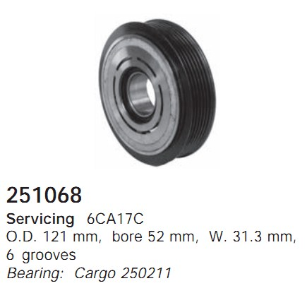 251068 Cargo Шкив компрессора