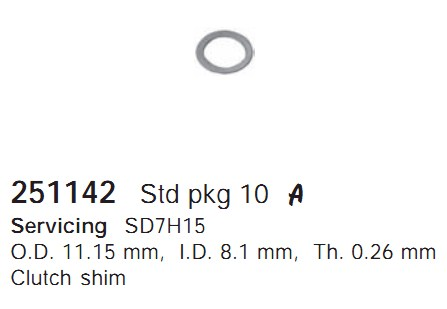 251142 Cargo Шайба компрессора